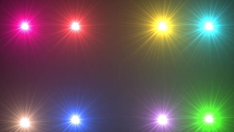 Flare colorful light flash Animation