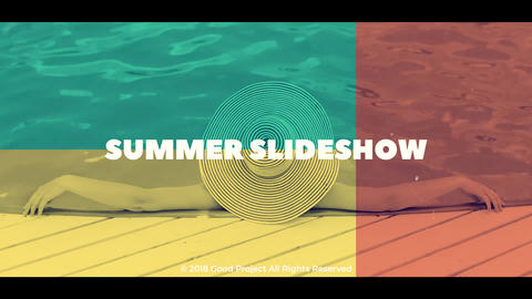 Summer Slideshow After Effectsテンプレート
