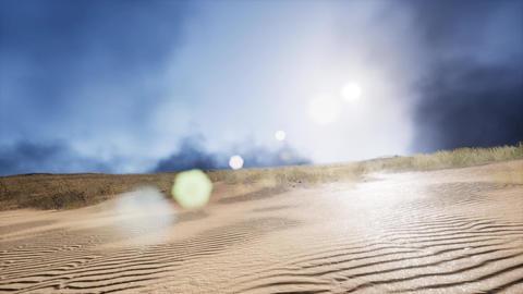 smoke over sand dunes Footage