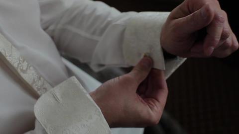 Man Puts On Tie, Watch, Shoe, Jaket Footage