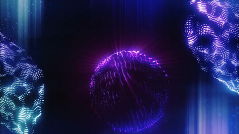 Abstract particles of vj club shining CG動画素材