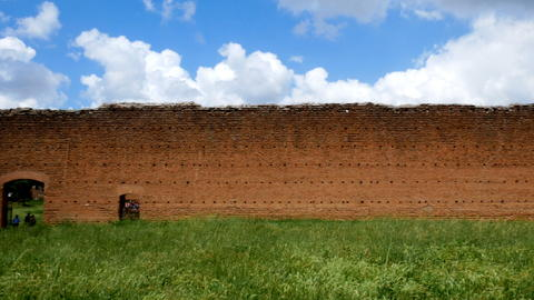 stone wall near the Circus of Maxentius, ancient Appia フォト
