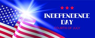 Independence day vector banner. Greeting card ベクター
