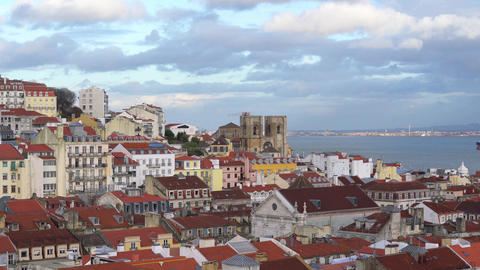 Alfama neighborhood in Lisbon Footage