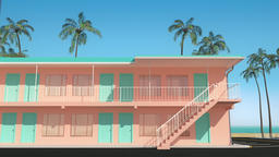 [alt video] 3D animation of motel buildings standing next to the...