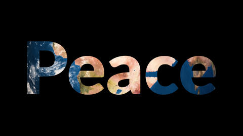 Text Peace revealing turning Earth globe Footage