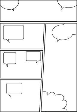 comic storyboard layout 34 Vector