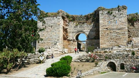 SELCUK, TURKEY - MAY 2015: saint john church basilica Footage