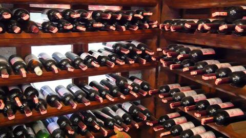 SIRINCE, IZMIR, TURKEY - MAY 2015: wine bottle shelf, store Footage