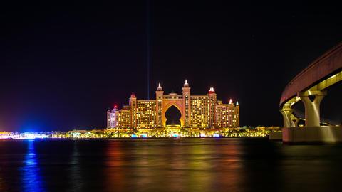 high light atlantis hotel time lapse from dubai city Footage