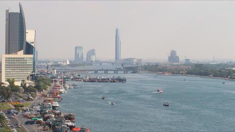 traffic deira area time lapse from dubai Footage