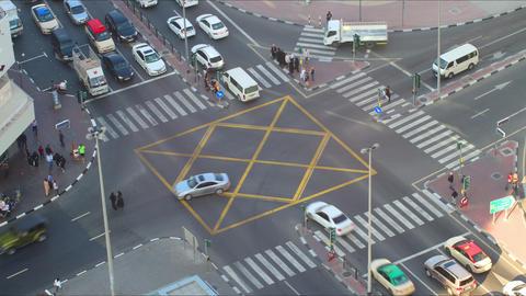 uae deira traffic crossroad time lapse dubai Footage