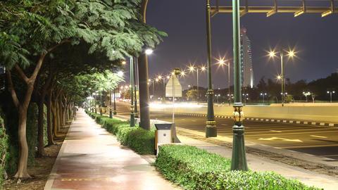 beautiful night light walking street 4k time lapse dubai Footage