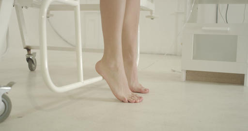 Female Feet Under Hospital Bed 4k Footage