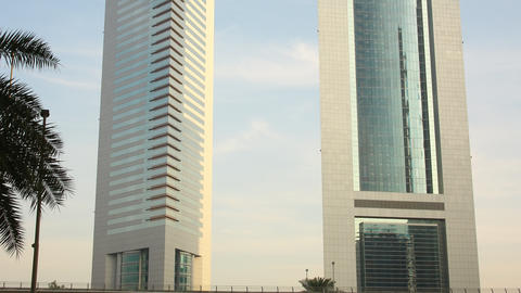 emirates towers time lapse from dubai city Footage