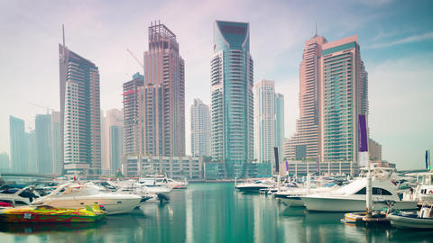 yachts bay dubai marina time lapse from uae Footage