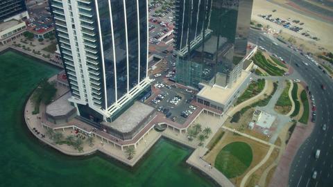 dubai office building view 4k time lapse Footage