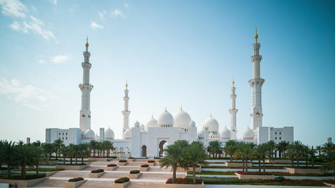 daylight abu dhabi mosque 4k time lapse Footage
