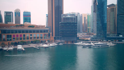 4k day time lapse from yacht dock from dubai Footage