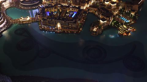 dubai famous fountain 4k time lapse from high Footage