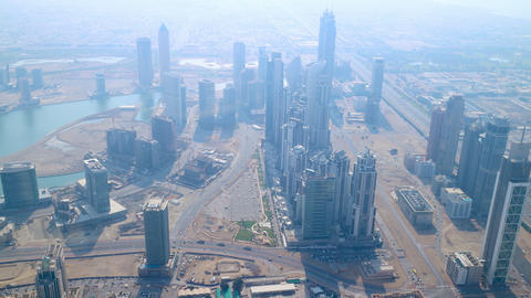 highest view 4k time lapse on sunny dubai Footage