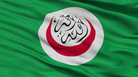 Close Up Waving National Flag of OIC Animation