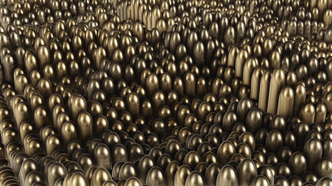 background of gold rounded cylinders Animation