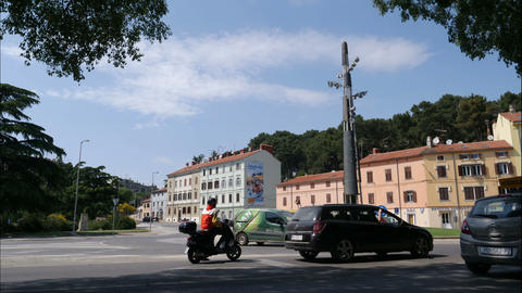 Time lapse of Busy street in Pula, Croatia Footage