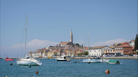 Time lapse at waterfront Rovinj, Croatia Footage