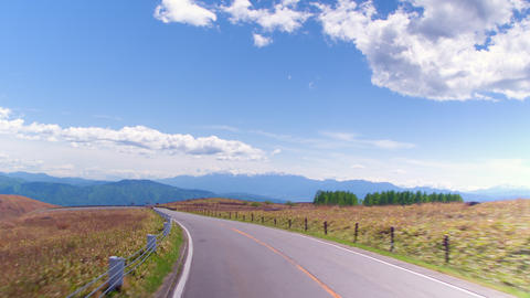 Driving video - View of a refreshing plateau 영상물