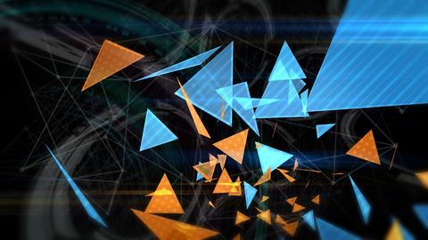 三角形のアブストラクト - スローモーション/カラーD CG動画