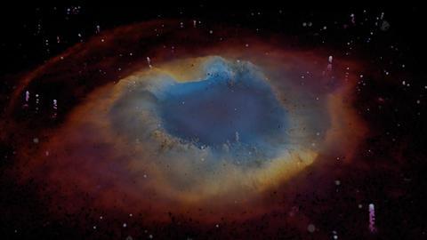 Unique Particle Recreation of the Helix Nebula Live Action