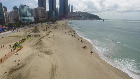 Haeundae Beach when Sand Festival Stock Video Footage