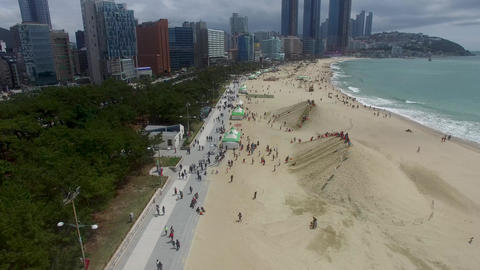 Haeundae Beach when Sand Festival Footage