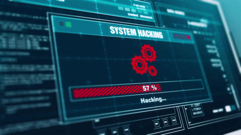 system hacking Progress Warning Message system hacked Alert on Screen Animation