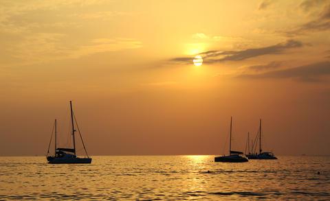 Sunset on the sea 1 Fotografía