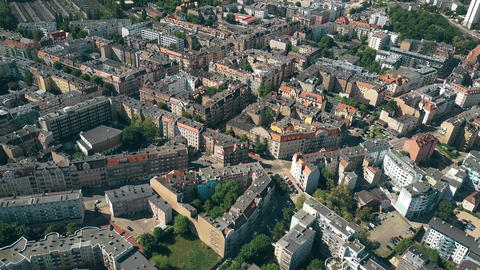 Aerial view of residential houses in Poznan, Poland Footage
