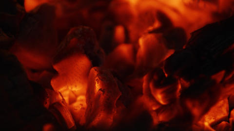 Fire sparks moving on dark at black background coming… Stock Video Footage