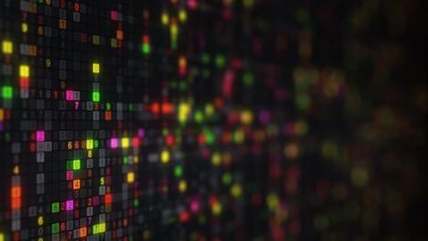 Colorful hexadecimal big data digital code loopable animation Animation