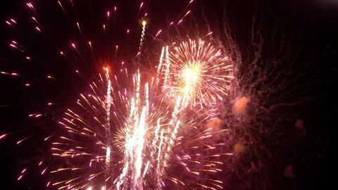 Fireworks display event seamless loop Footage