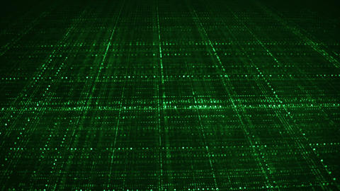 Dolly shot of endless green grid seamless loop animation Animation