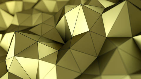 Low poly gold surface 3D render seamless loop animation Videos animados