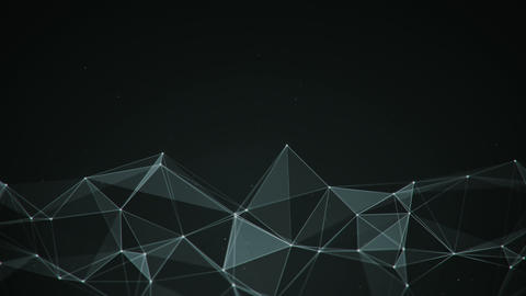 Network with triangles and lines seamless loop smooth animation Animation