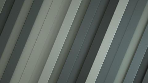 Gray diagonal stripes seamless loop 3D render animation Stock Video Footage
