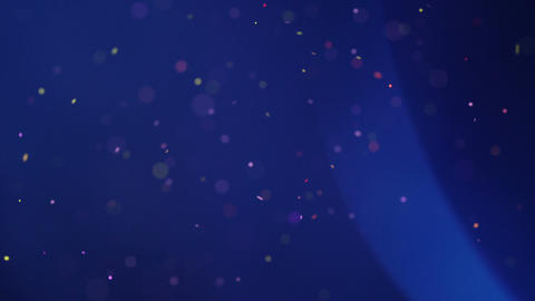 Swirling particles and light flares seamless loop background ビデオ