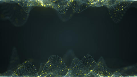 Futuristic cyber surface and free space loopable animation with DOF Animation