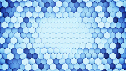 Blue hexagonal cells seamless loop abstract 3D animation Animation