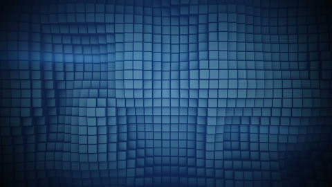 Wall of blue boxes abstract seamless loop 3D render animation Animation