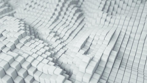 White cubic blocks seamless loop 3D render animation Animation