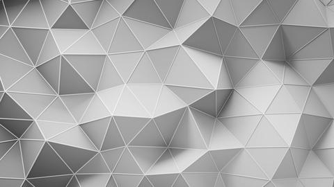 White low poly construction with lines on edges loopable 3D render animation Animation
